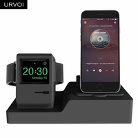 URVOI 3 in 1 Charging Dock Holders for Apple Watch iPhone stand watchOS 5 keeper Airpods PC home charging dock silicone repair