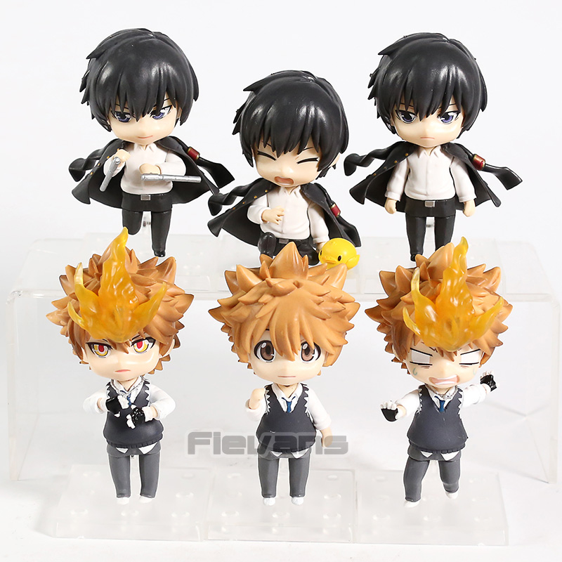 HITMAN REBORN! Sawada Tsunayoshi Hibari Kyouy PVC Figure Collectible Model Toy 3pcs/set image