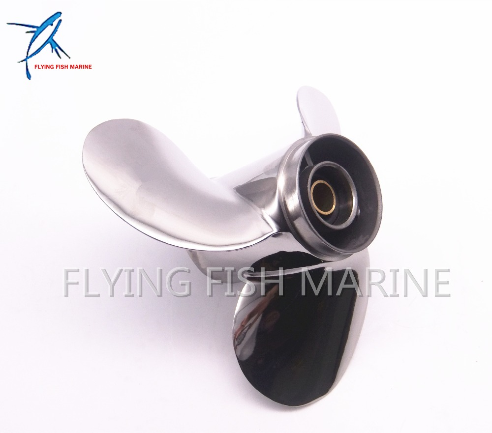 9 1/4x11-J Outboard Engine Stainless Steel Propeller for Yamaha 9.9HP 15HP 9 1/4 x 11 -J 63V-45943, Fit Hidea Parsun HDX 15hp цены онлайн