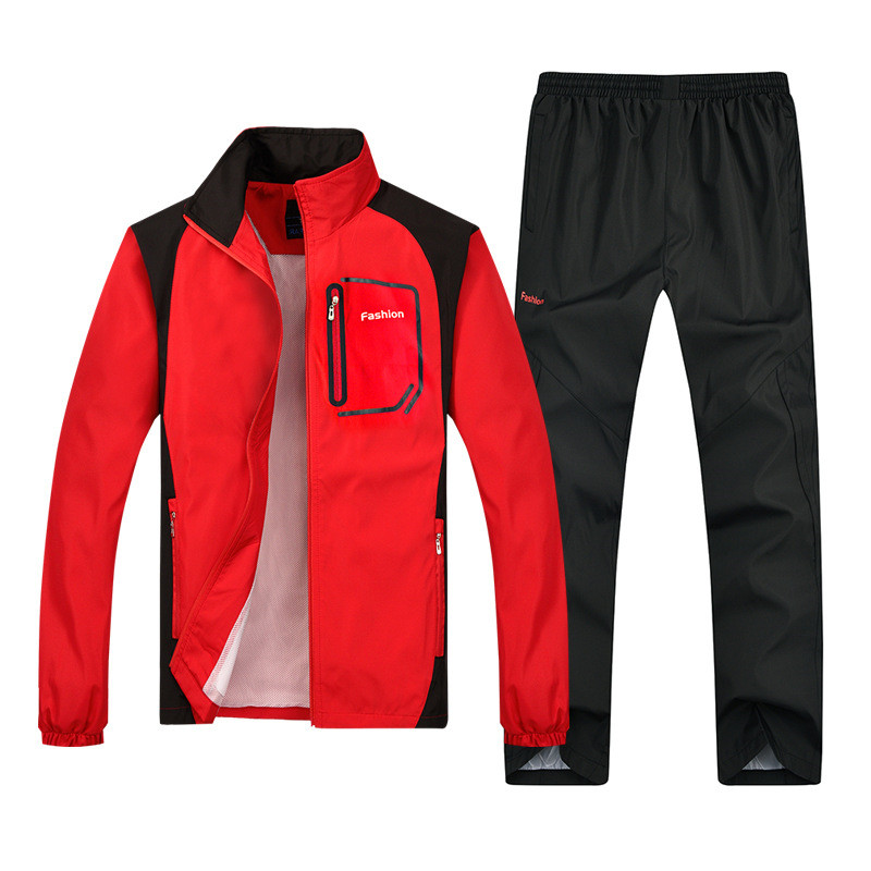 Image 3 - New Mens Set Spring Autumn Man Sportswear Sporting Suit Casual 