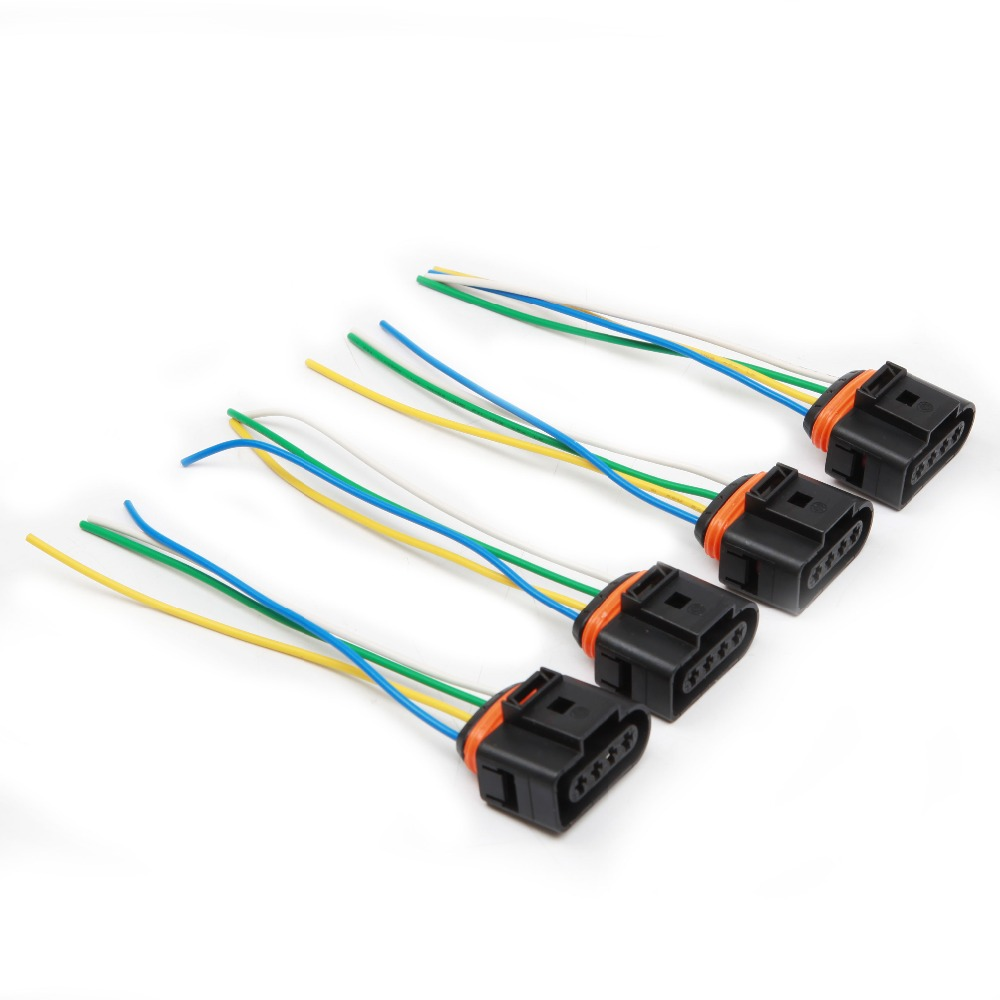 4x Ignition Coil Connector Plug Pack Wiring Harness For AUDI VW SKODA SEAT FORD
