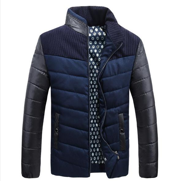 Down Jacket Men S Urban Fashion Hot Spell Color Cotton