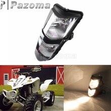 Motorcycle 12V Amber Light Front Dual Twin Headlights Assembly Headlamp for Suzuki ATV Quadsport LT-Z400 LT-Z400Z все цены