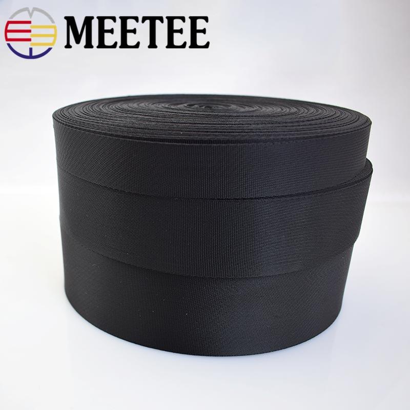 5yards Meetee 2/2.5/3.2/3.8/5cm Black Webbing Ribbon Band Dog Collar Belt DIY Sewing Bags Parts Straps Seat Strap Shoes Clothing