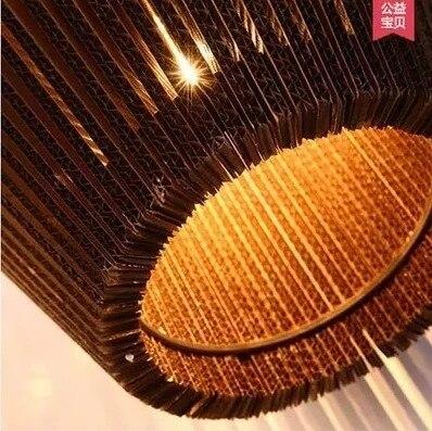 Vintage papier Rural nid d'abeille lampe soutien gorge pendentif lumières abat jour papier lanternes pour la maison et la barre design créatif lampe décoration - 2