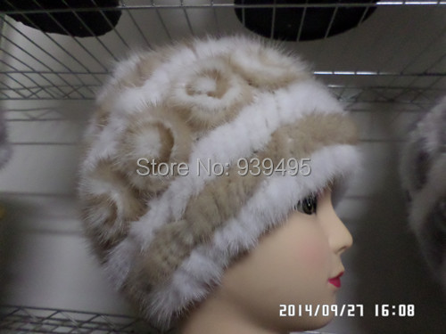 Free shipping lady mink fur fashion hat