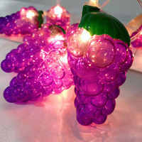 10/20Leds LED String Light Grape Fruit String Light Batteries Powered Lamp Waterproof Lamp Children Room Decoration Lighting