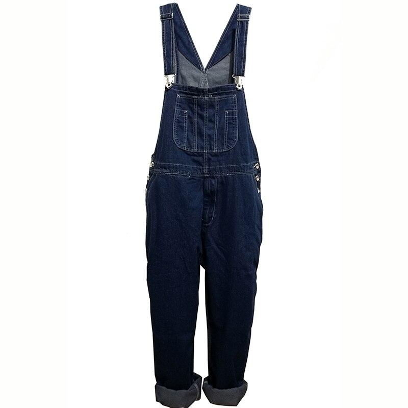 Hot 2019 Men's Plus Size 28-48 50 Overalls Large Size Huge Denim Bib Pants Fashion Pocket Jumpsuits Male Free Shipping Brand