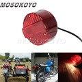 Круглые задние габаритные огни мотоцикла красный задний стоп-сигнал для MZ ETZ SUZUKI TS 125 150 250 Simson SR50 SR51