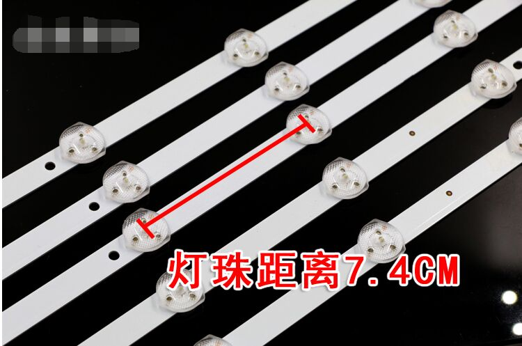 3pcs x 39 / 40 inch Original Slim LED Strips w/ Optical Lens Filter TV Panel Backlight Lamps 70cm 10-LEDs Free Shipping