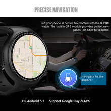 Makibes I4 PRO GPS Smart Watch Bluetooth WIFI 3G Smartwatch Heart Rate Monitor Weather Remote Voice Control Calory 2+16GB Watch
