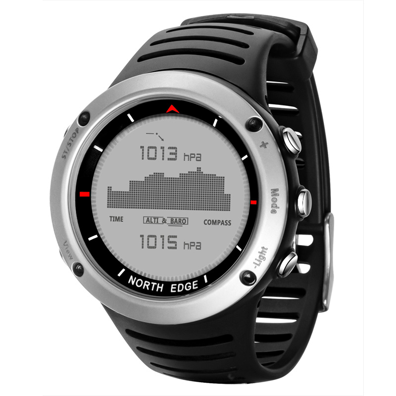 NORTH EDGE Digital Wristwatches Waterproof Smart Watch Alarm Men LED Quartz Clock MovementALATY Outdoor Sport Watches Heart Rate ezon men women watch waterproof heart rate monitor outdoor running sport alarm chronograph digital watch clock with chest strap