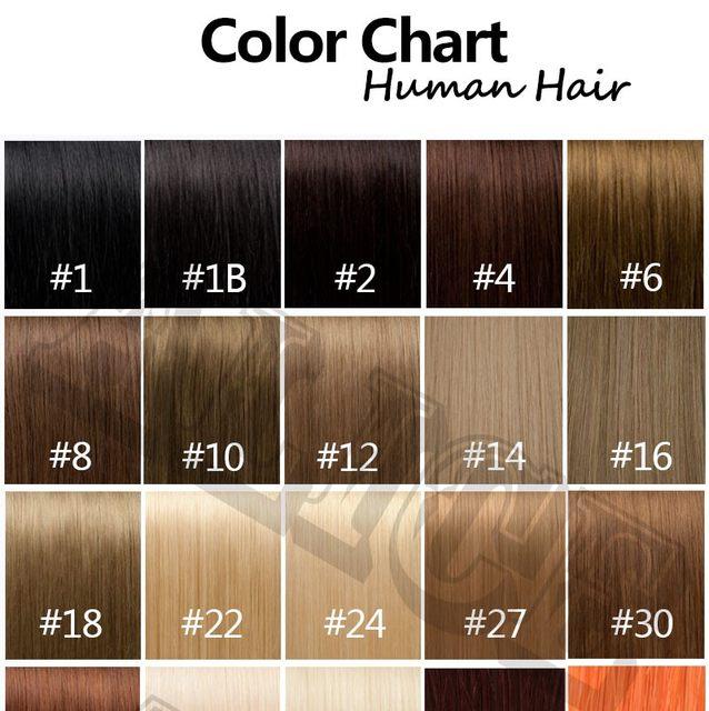Online Shop Human Hair Color Chart Extensions 31 Colors Hair Colour