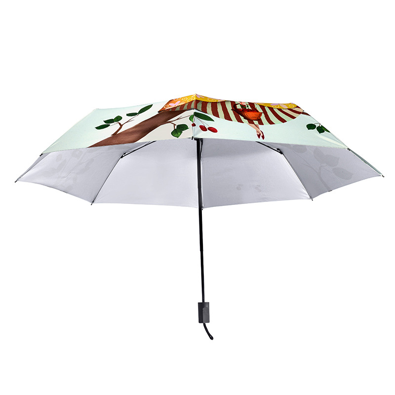 YADA Designer Cartoon Girl Umbrella Rain Women Brand uv High Quality Umbrella For Womens Windproof Folding Patio Umbrellas YS109