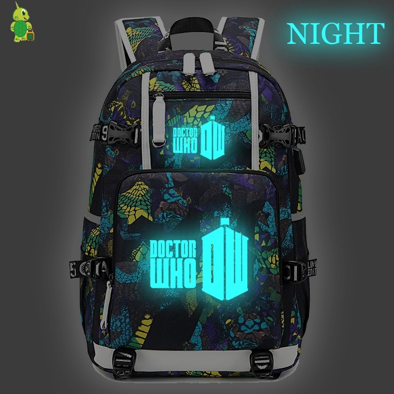 Doctor Who Backpack School Bags for Teenage Girls Boy Large Capacity Laptop Backpack Fashion Travel Shoulder Bag Casual Rucksack