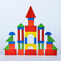 31pcs/Barrel Solid Wood Blocks Baby Wooden Early Education Toy Colorful Wooden Rectangle Building Model  Kit Children Juguetes