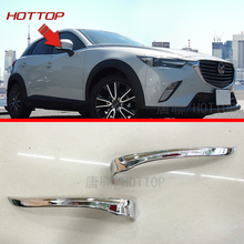 Side Mirror Strips Cover Molding Trim For Mazda CX-3 2016 2017 Rearview Exterior Parts
