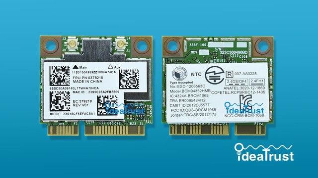 Bcm94352hmb fru 03t8215 hackintosh 802.11ac 867 mbps suporte bt4.0 wifi placa de rede sem fio para lenovo y510p y410p y430p