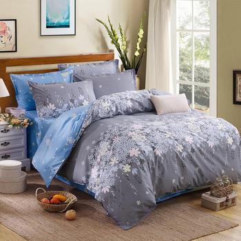 Classic Bedding Set Blue Grey Floral