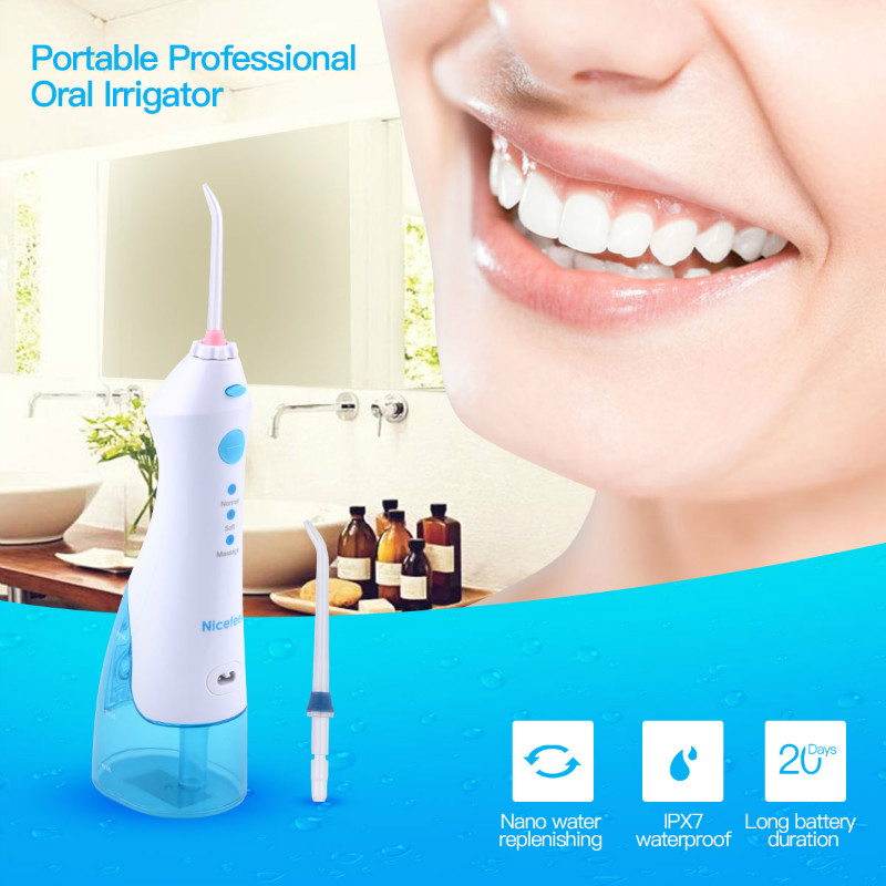 Nicefeel FC158 Professional Cordless Dental Oral Irrigator Water Jet Flosser Oralcare Rechargeable Teeth Pick Cleaner Tooth SPA pro teeth whitening oral irrigator electric teeth cleaning machine irrigador dental water flosser teeth care tools m2