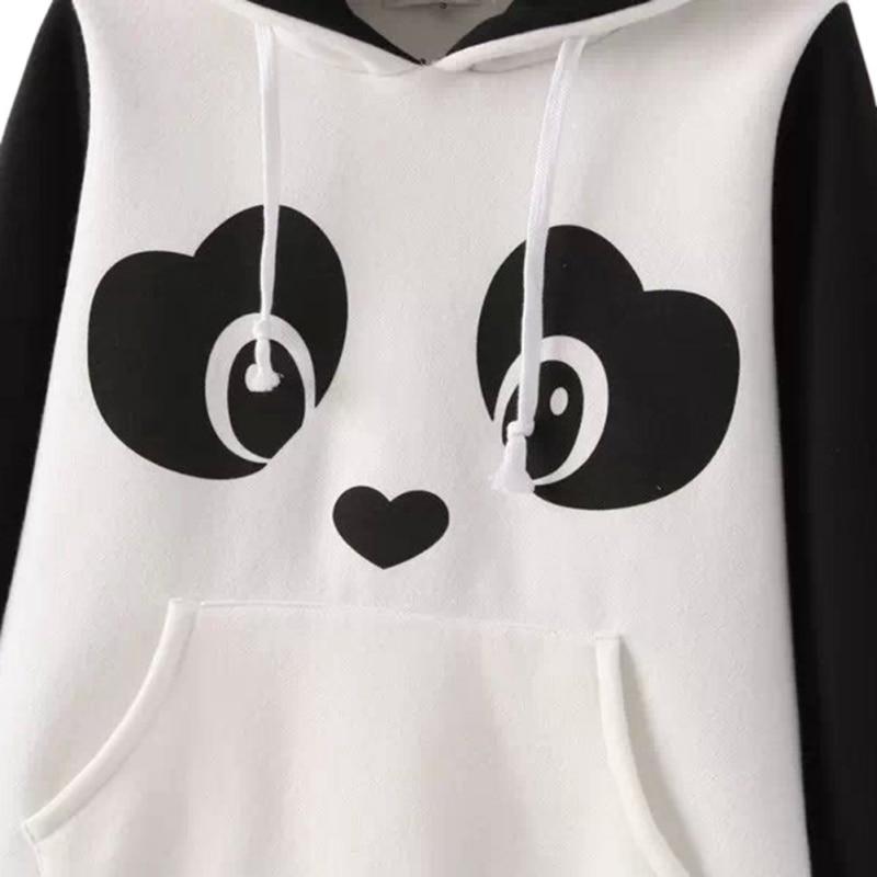 Us 1062 2017 Autumn Kawaii Hoodies Cute Chinese Panda Cartoon Printed Sweatshirt Women Hoody Casual Cute Outwear In Hoodies Sweatshirts From