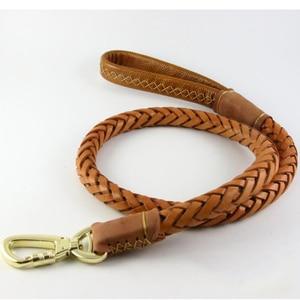 Image 2 - 本革犬の鎖リードペット編組犬チェーン手作り厚み余分なワイドペットトレーニングベルトハスキーゴールデンレトリバー