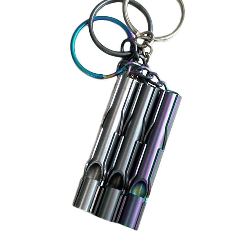 Self Defese Personal SecurityOutdoor EDC Tool Loud Volume Metal Stainless Steel Whistle High Decibel  Survival Gear