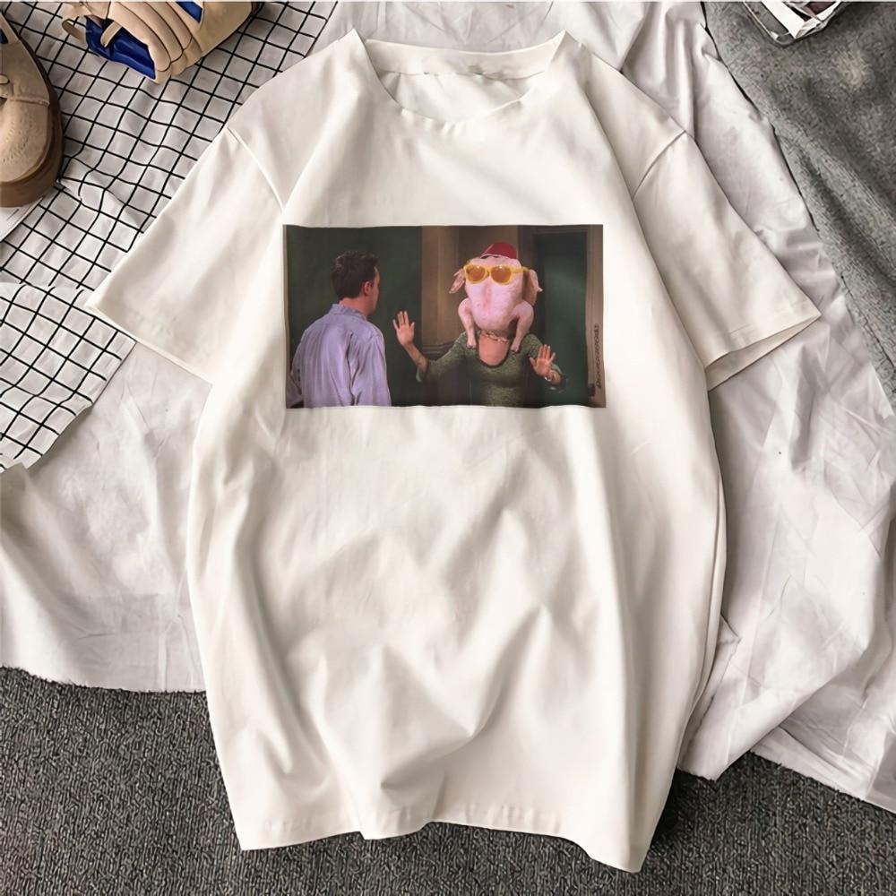 Fashion Aesthetic TShirt Friends TV Play Funny Art Printed 100% Cotton Top Tees Casual O Neck T-Shirt Unisex TShirt