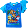 New 2017 Summer Children Cartoon Patrol Dog Clothing Baby Boy Cotton T Shirts Patrol Clothes Kids Short Sleeve Tops Costume
