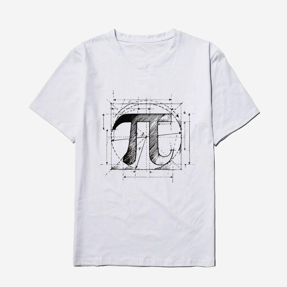 Voltreffer Pi Math Tshirt Men Funny Print Casual Harajuku New European Style Fashion Comfortable Homme Mens Tshirts Summer Male