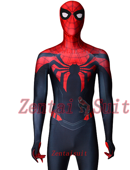 The Superior Spider-Man Costume Black Red Spider Fullbody Suit Spidey Cosplay Spiderman Costume Halloween For Adult/Kids superior spider man no escape
