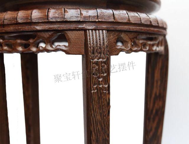 Wenge madeira fezes de steller casa agir o papel ofing é provado vermelho escultura em madeira base de vaso de artesanato artigos de decoração