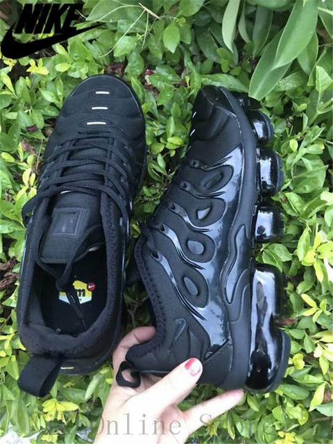 771b2af035484 Nike Air Max Vapormax Plus TN Men And Women Running Shoes Cushioning Shoes  Outdoor Sport Black Low top Sneaker EUR36-45