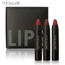 FOCALLURE 3PCS/Set Matte Lipstick Waterproof Cosmetics Kit Long-lasting Lip Tint