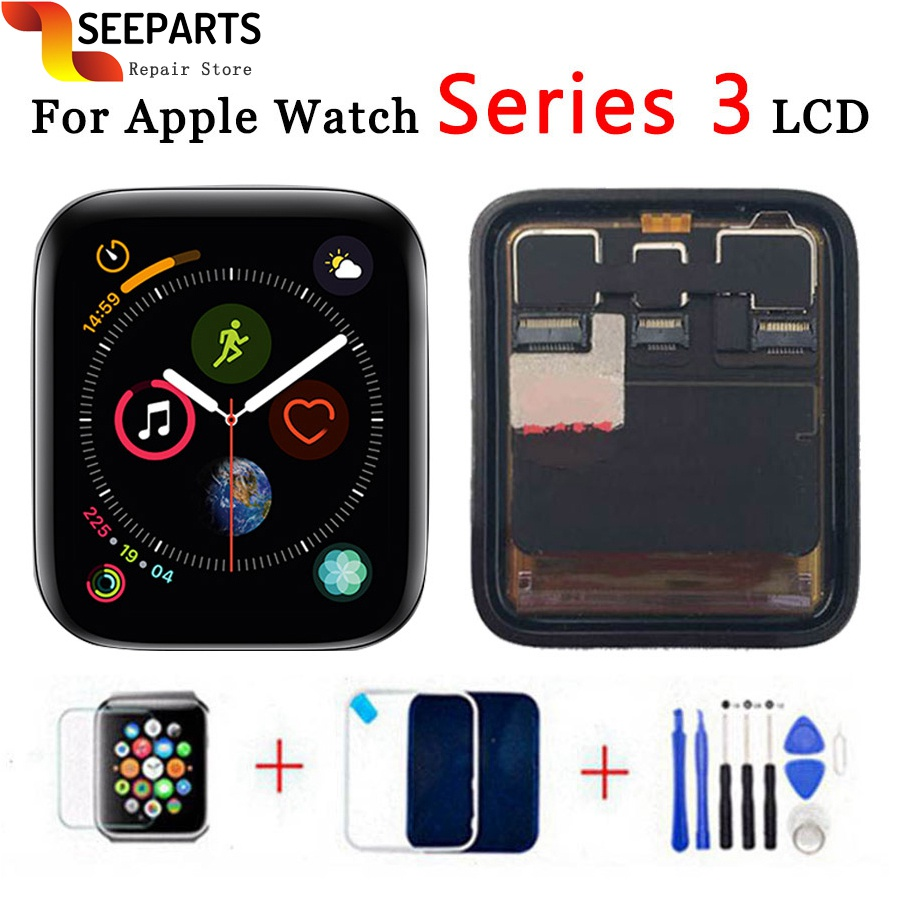 For Apple Watch Series 3 LCD Display Touch Screen Digitizer Series3 S3 38mm/42mm Replacement GPS versions and Cellular versionsFor Apple Watch Series 3 LCD Display Touch Screen Digitizer Series3 S3 38mm/42mm Replacement GPS versions and Cellular versions