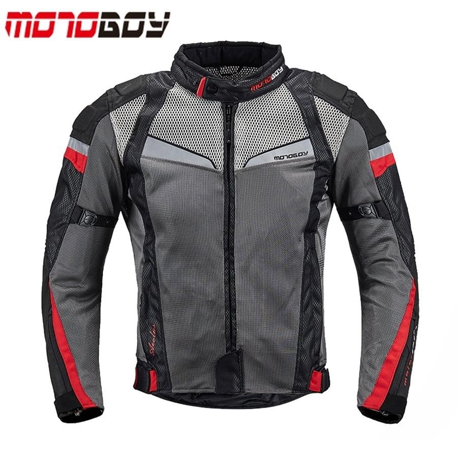 Бесплатная доставка 1pcs Мотокросс светоотражающие куртка сетки дышащий одежда мотоцикл куртка с 5 шт. колодки