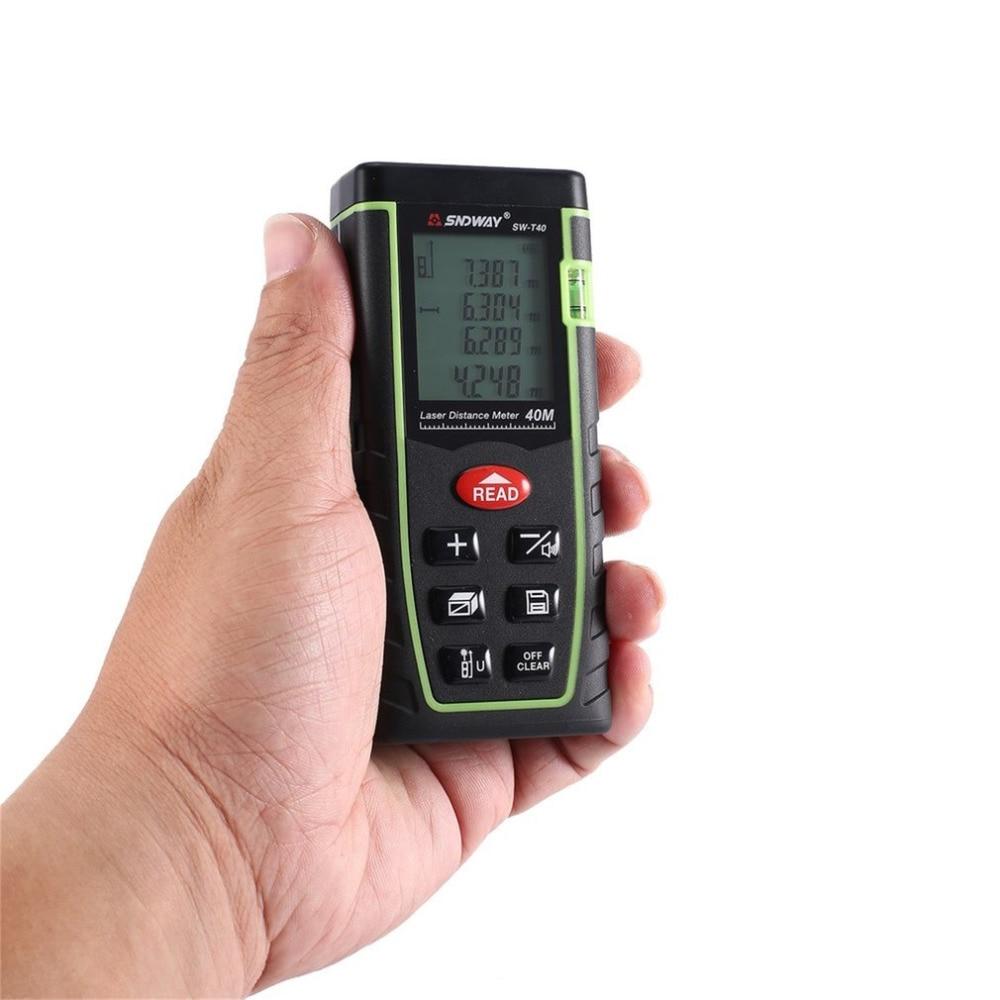 SNDWAY SW-T40 SW-T60 SW-T80 SW-T100 Laser Distance Meter Range Finder Trena Rangefinder Tape Measure Tool sw 20w