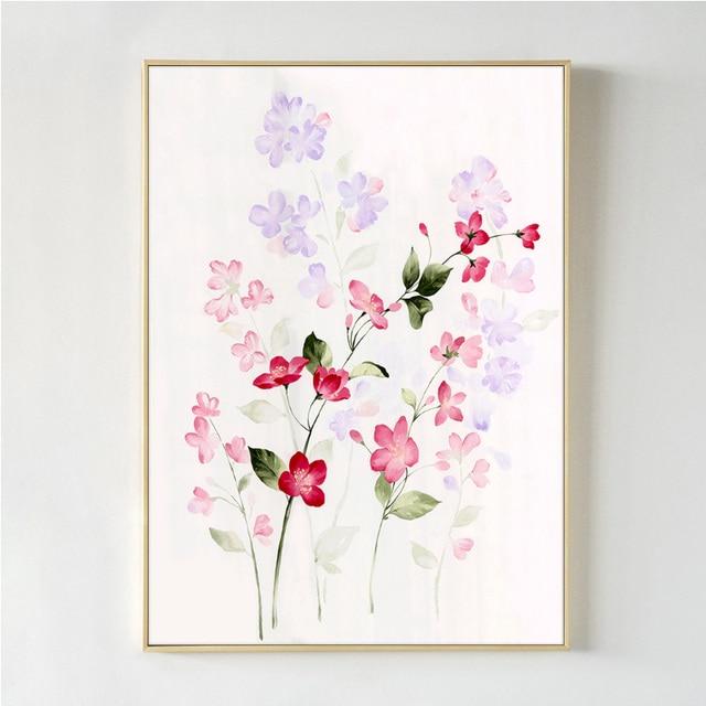 Lukisan Bunga Menggunakan Cat Air Brad Erva Doce Info