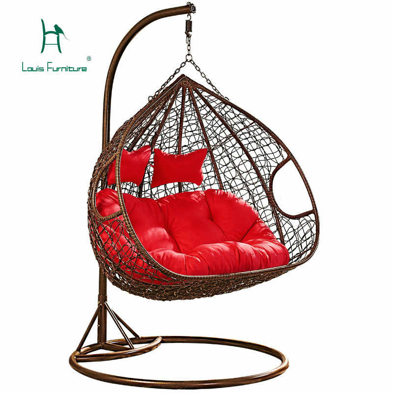 Louis Fashion Patio Swing Adult Indoor hammockcradle chair  Chlorophytum Lazy Chair Double Swing Hanging Chair Rocking Chair