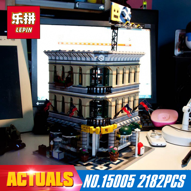 2182Pcs 15005 LEPIN City Grand Emporium Model Building Blocks Kits Brick Toy Compatible Educational 10211 Children DIY Gift lepin 02012 city deepwater exploration vessel 60095 building blocks policeman toys children compatible with lego gift kid sets