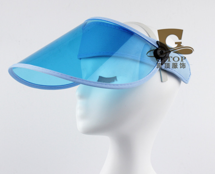 2016 new uv protection clear plastic sun visor cap bicycle outdoor wide brim hat free shipping g