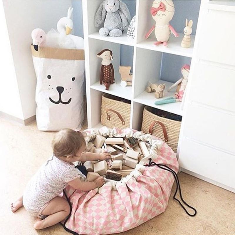 135cm többfunkciós pamut baba játszó gyerekek szőnyegpadló - Csecsemőjátékok
