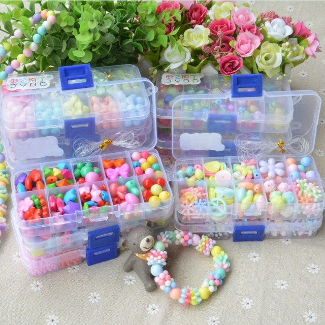 Beads DIY Toy String Beaded Early Educational Handmade Jewelry Chain Necklaces Bracelet Teaching Puzzle Toy For Girls