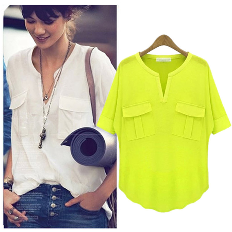 V neck short sleeve modal Stretch T-shirt women with pockets super soft solid casual shirts fashion tops juniors tee
