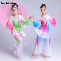 2019 summer children dance costume suit leakage sequins cheerleading hip hop modern dance costumes boy girl stage dance wear