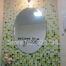 """Bathroom Mirror Decals – """"You're beautiful"""" """" I love you"""" ,Believe in yourself"""" …Vinyl Sticker For Home Mirror Decor"""