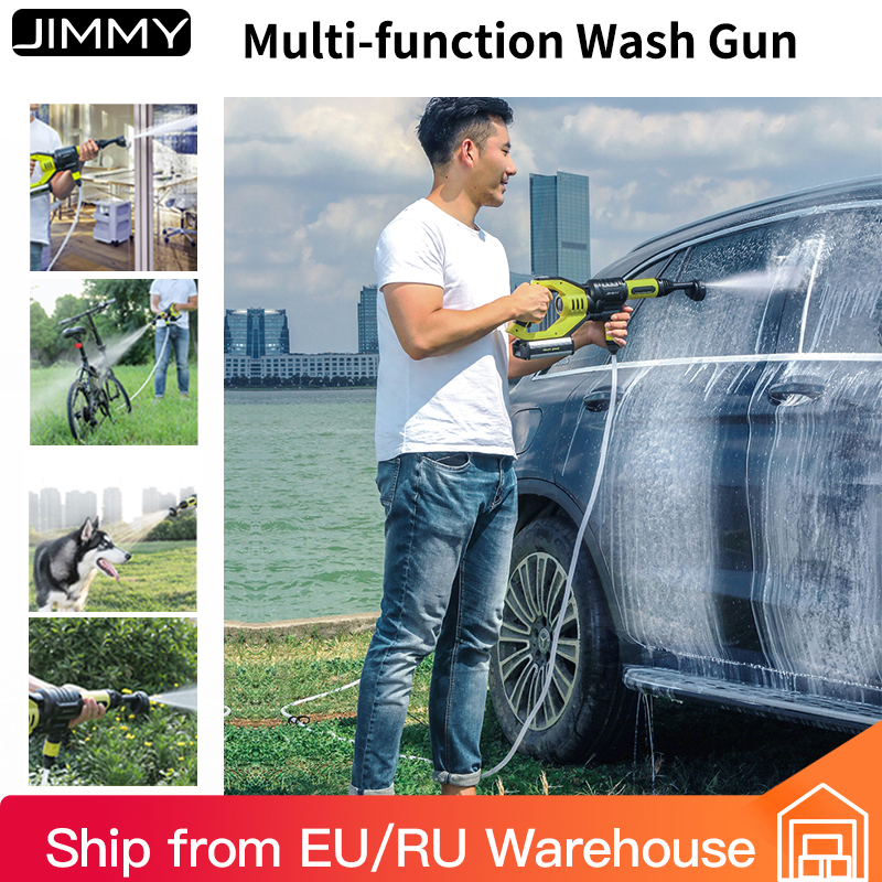 JIMMY JW31 Handheld Wireless Automobiles Wash Gun High Pressure Car Washer Snow Foam Water Power Cleaner Multifunctional Nozzle