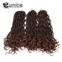 20 дюймов faux locs curly end крючком коса Омбре волосы для