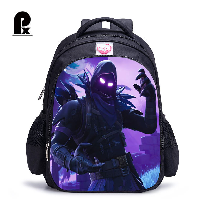 Backpack Mochila Schoolbag Battle Royale Famous-Game Character Kids Cartoon for Printing