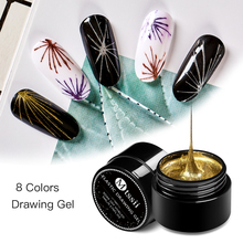 Mtssi Spider Gel Creative Wire Drawing Nail Gel Lacquer Point To Line Painting Gel Polish Pulling Silk Spider Nail Art Design